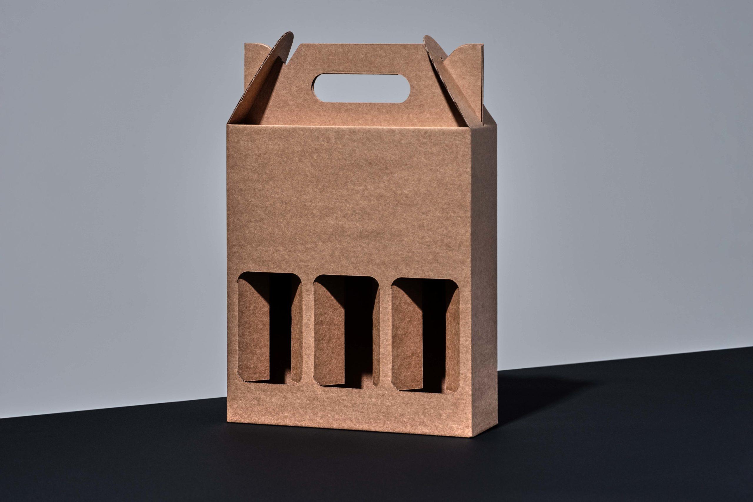 Iepakojums pudeļu komplektam. Iepakojuma konstrukcija